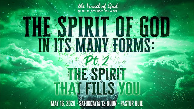 "05162020 -  ""The Spirit of God In Its..."