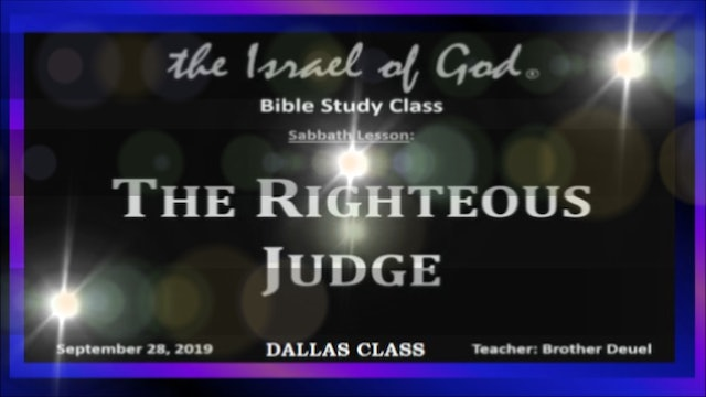 9282019 - IOG Dallas - The Righteous Judge