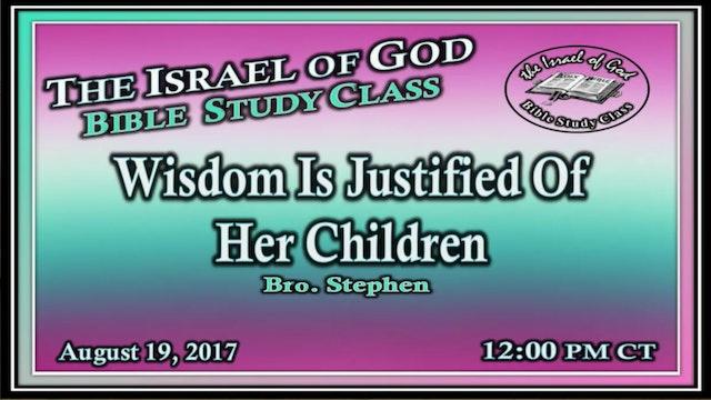81917 - Wisdom Is Justified of Her Children