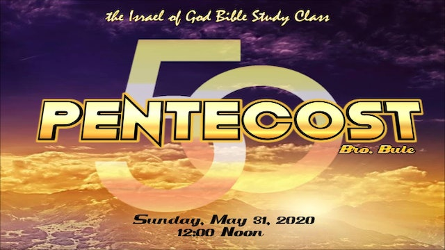 05312020 - DAY OF PENTECOST