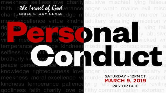 3092019 - Personal Conduct