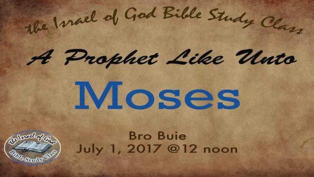 70117 - A Prophet Like Unto Moses