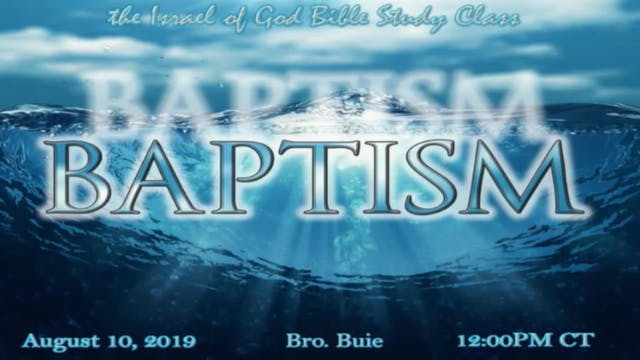 08102019 -  The Baptism