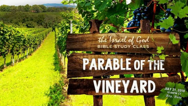 07212018 - Parable of the Vineyard