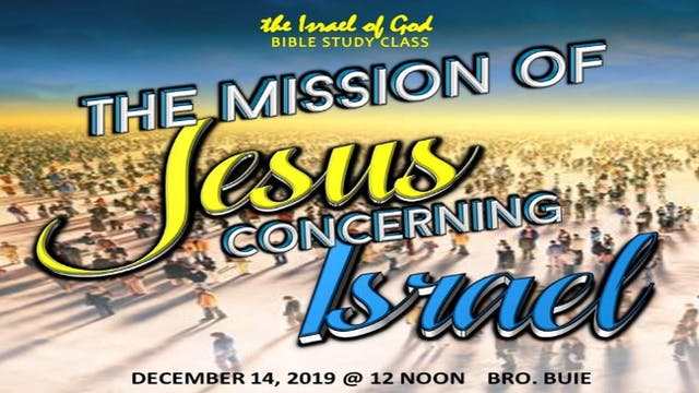12142019 - The Mission of Jesus Conce...