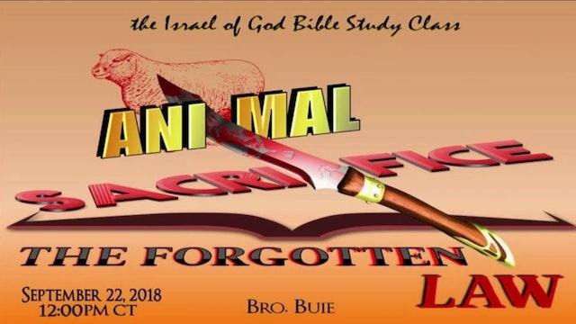09222018 - Animal Sacrifice: The Forgotten Law