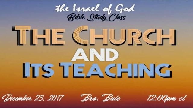 122317 - The Church & Its Teaching