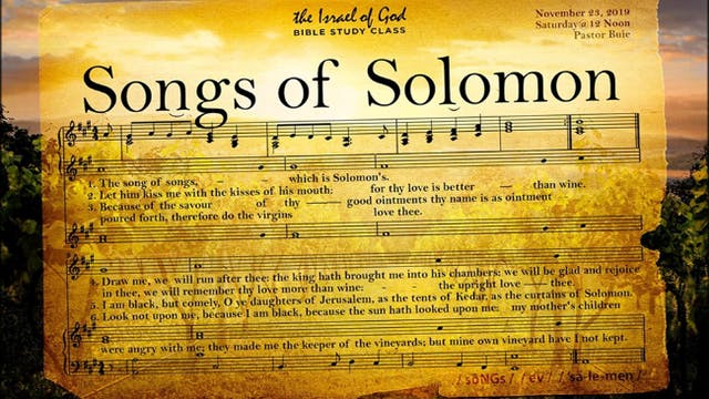 11232019 - Songs of Solomon