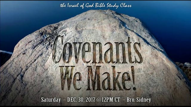 123017 - Covenants We Make
