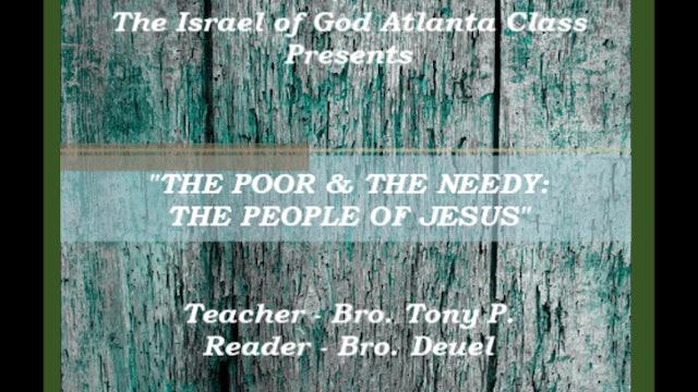 05212016 - IOG Atlanta - The Poor & The Needy: The People of Jesus