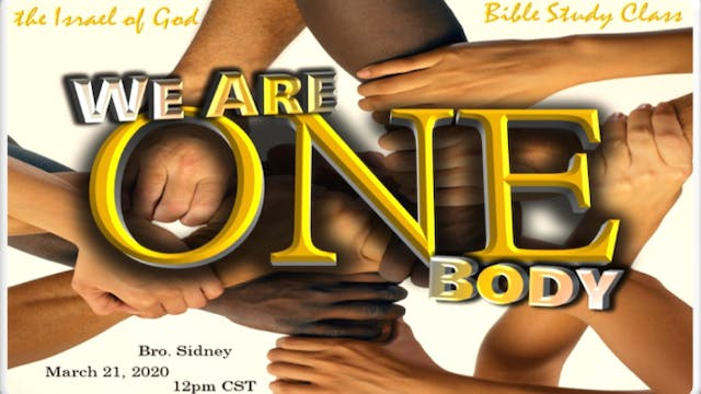 03212020 - We Are One Body