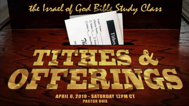 4062019 - Tithes & Offerings