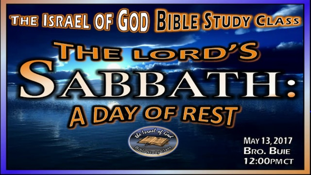 51317 - The Lord's Sabbath Day, A Day Of Rest