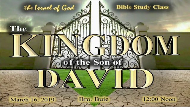 3162019 - The Kingdom of the Son of David