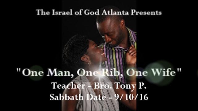 9162016 - IOG Atlanta - One Man, One Rib, One Wife