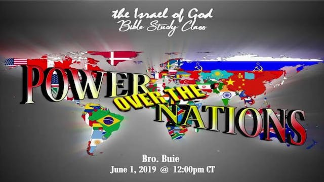 6012019 - Power Over The Nations