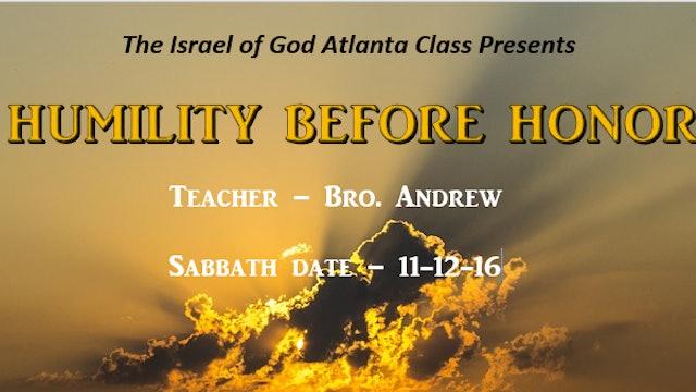 11122016 - IOG Atlanta - Humility Before Honor