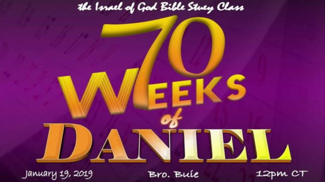 1192019 - The 70 Weeks of Daniel