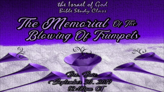 9302019 - Memorial of Blowing of Trumpets