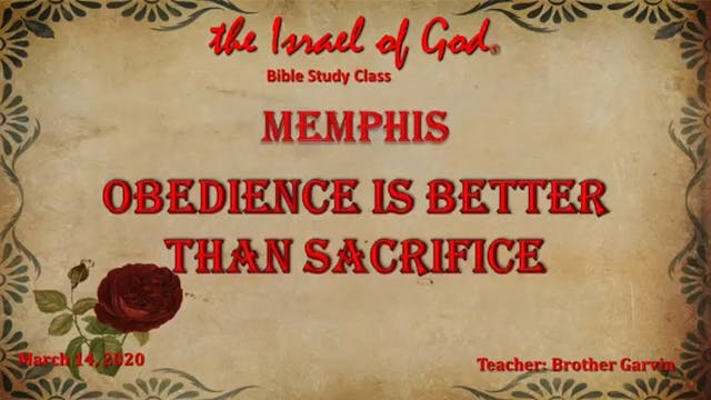 03142020 - IOG Memphis - Obedience Is...