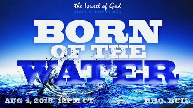08042018 - Born of the Water