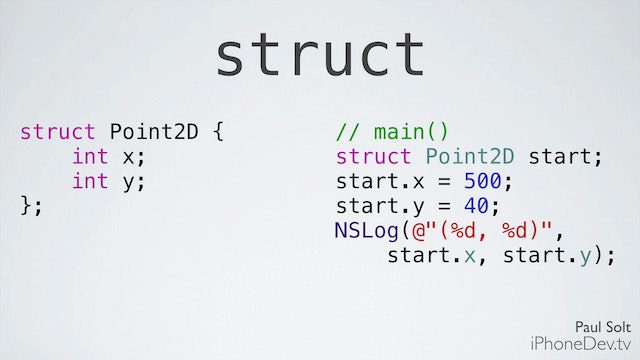 10 Xcode - Structures