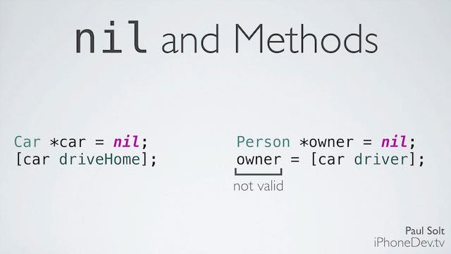 12b Lecture - Objects id and nil