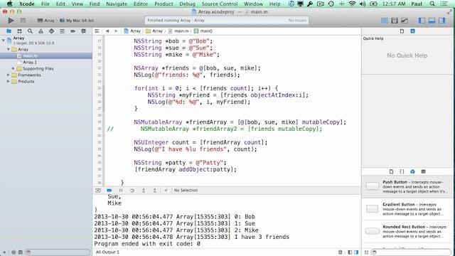 14 Xcode - NSArray