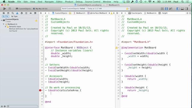 16 Xcode - Custom Objects
