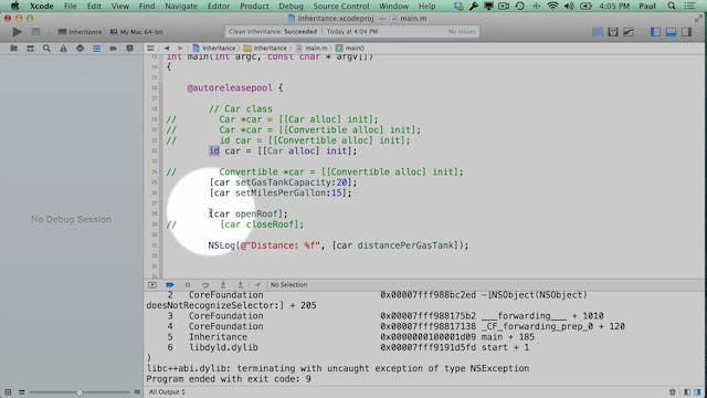 18 Xcode - Troubleshooting Inheritance