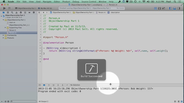 19 Xcode - Object Ownership Part 1