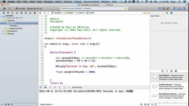 2 Xcode - Variables & Types
