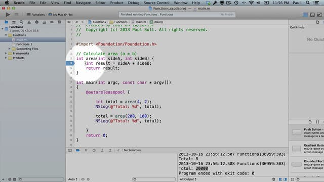 4 Xcode - Functions