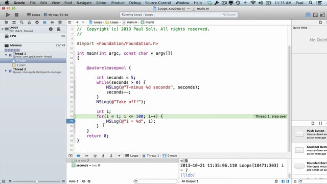 7 Xcode - Loops