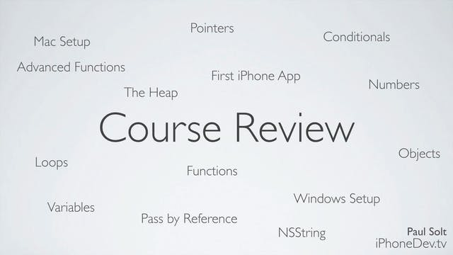 22 Lecture - Course Review