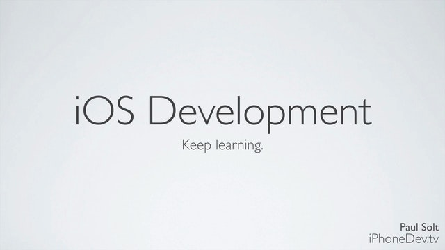 32 - iOS Development Closing