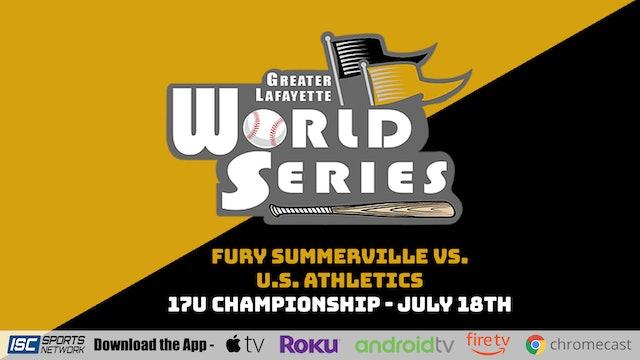2021 GLWS BSB 17U Fury Summerville vs U.S. Athletics 7/18