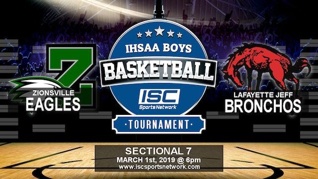 2019 IHSAA BBB Zionsville vs Lafayette Jeff