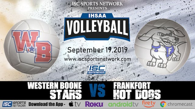 2019 GVB Western Boone at Frankfort 9/19
