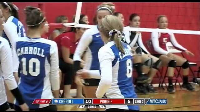 2013 Macy Willoughby kick save vs Clinton Prairie