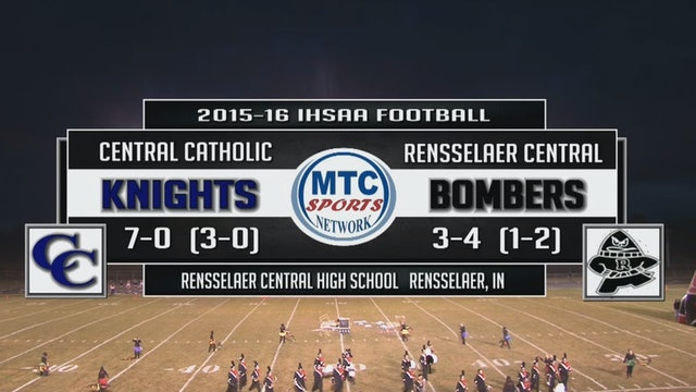2015 FB Central Catholic at Rensselaer Central