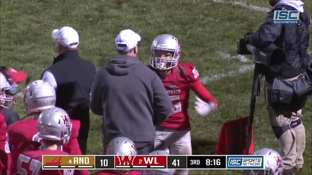 2018 IHSAA FB Andrean at West Lafayette Klinker Pick 6