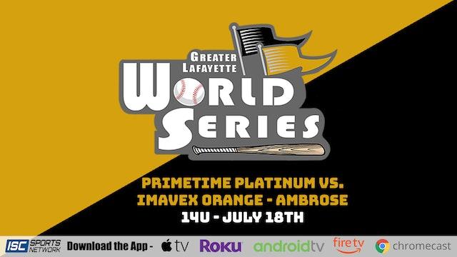 2021 GLWS BSB 14U Primetime Platinum vs Imavex Orange - Ambrose 7/18