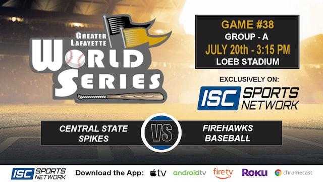 2019 GLWS G38 Central State vs Firehawks Baseball