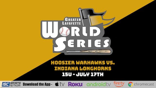 2021 GLWS BSB 15U Hoosier Warhawks vs Indiana Longhorns 7/17