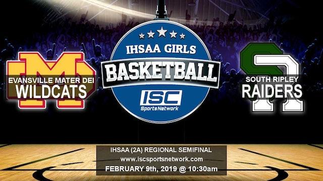 2019 IHSAA GBB Evansville Mater Dei vs South Ripley