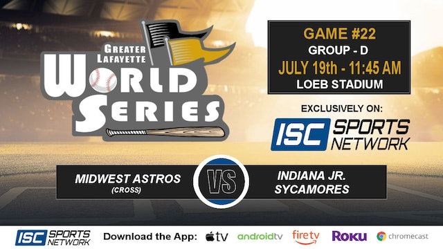 2019 GLWS G22 Midwest Astros vs IN Jr Sycamores