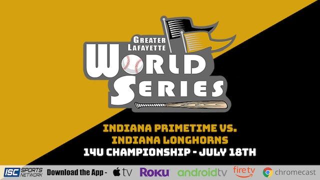 2021 GLWS BSB 14U Primetime Platinum vs Indiana Longhorns 7/18 - Part 2