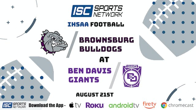 2020 FB Brownsburg at Ben Davis
