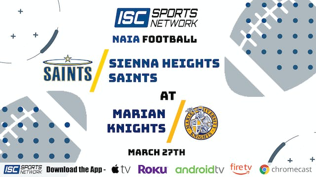 2021 CFB Sienna Heights at Marian 3/27